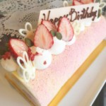 苺のロールケーキ♪